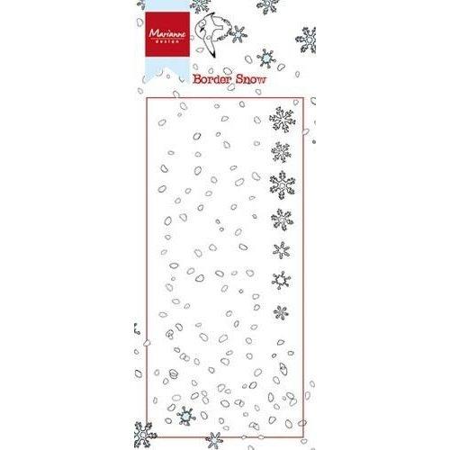 Marianne Design HT1611 - Stempel Border - Snow 1 7,5x18,5cm