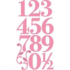 COL1418 - Collectable Elegant numbers 18  19x20 cm