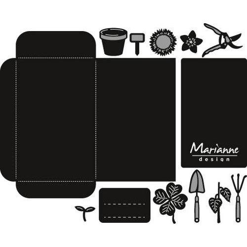 Marianne Design CR1395 - Craftable Zaadzakje en tuingereedschap 5 15x17,5 cm