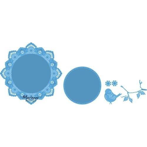 Marianne Design LR0457 - Creatable Petra's cirkel met vogel 7 15,5x19cm