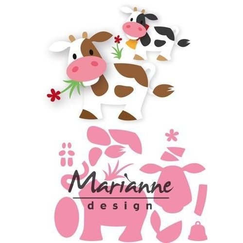Marianne Design COL1426 - Collectable Eline's koe 26  14,5x20,5 cm