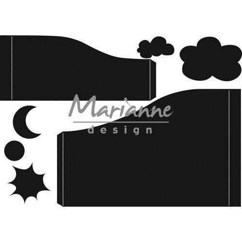 Marianne Design CR1402 - Craftable Gebogen kaart 2 12,0x20,5 cm