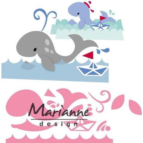 Marianne Design COL1430 - Collectable Eline's walvis 30  14,5x20,5 cm
