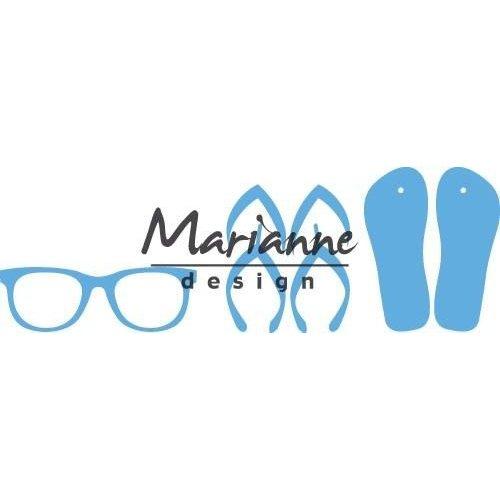 Marianne Design LR0477 - Creatable Flipflops & zonnebril 7 8,0x18,5cm
