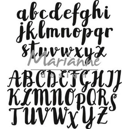 Marianne Design CR1416 - Craftable Brush alfabet 6