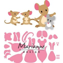 COL1437 - Marianne Design Collectable Eline's mice family