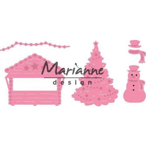Marianne Design COL1440 - Collectable Village decoratie set 5 40