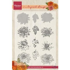 TC0858 - Clear Stamp Tiny's chrysant (layering)