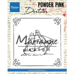 PP2806 - Clear stamp Powder Pink – Sailboat
