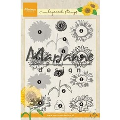 TC0865 - Clear Stamps Tiny's layered Sunflower