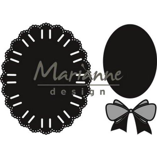 Marianne Design CR1458 - Marianne Design Craftable Oval ribbon die