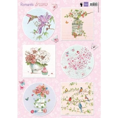 Marianne Design EWK1264 - Knipvel A4 Romantic Dreams - Pink