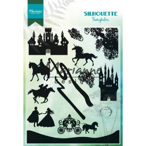 Marianne Design CS1020 - Clear Stamp Silhouette Fairytales
