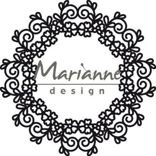 Marianne Design CR1470 - Marianne Design Craftable Floral Doily