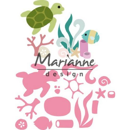 Marianne Design COL1468 - Marianne Design Collectable Sealife by Marleen