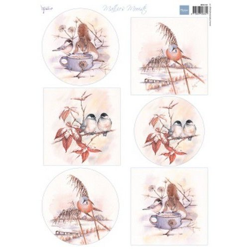 Marianne Design MB0181 - Knipvel A4 Mattie's Mooiste Winter birds