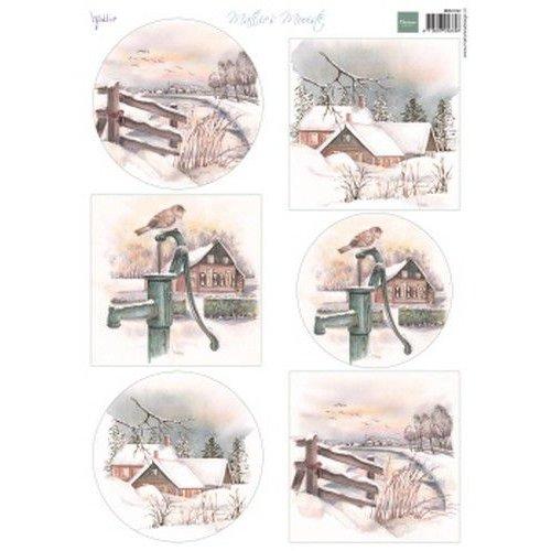 Marianne Design MB0182 - Knipvel A4 Mattie's Mooiste Dutch Winter