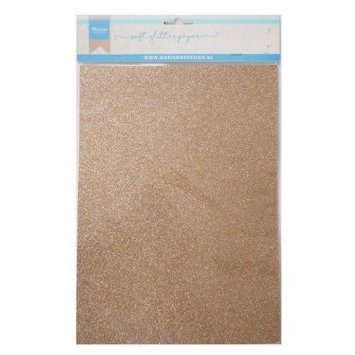 Marianne Design CA3145 - Soft Glitter paper - Bronze