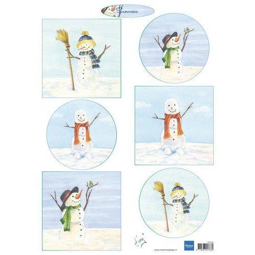 Marianne Design IT613 - Knipvel A4 Tiny's Snowmen
