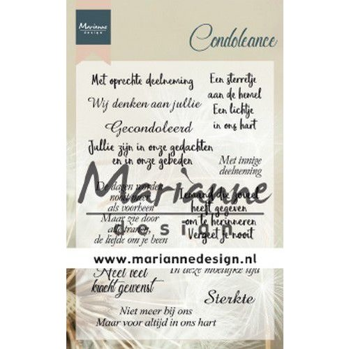 Marianne Design CS1041 - Clear Stamps Condoleance