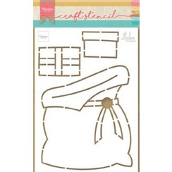 PS8047 - Craft Stencil Presents bag by Marleen