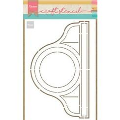 PS8049 - Craft Stencil Pendule