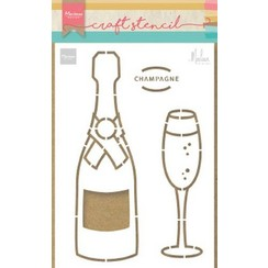 PS8051 - Craft Stencil Champagne by Marleen