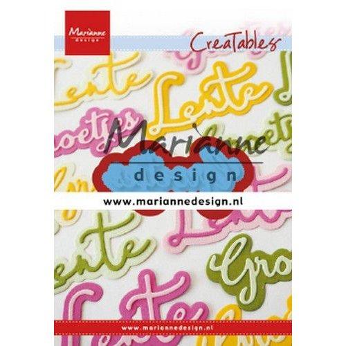 Marianne Design LR0646 - Marianne Design Creatable Groetjes
