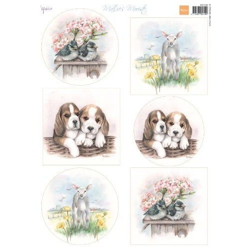 Marianne Design MB0184 - Knipvel A4 Mattie's Mooiste Spring