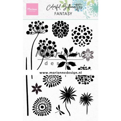 Marianne Design CS1047 - Clear Stamps Colorful Silhouette - Fantasy