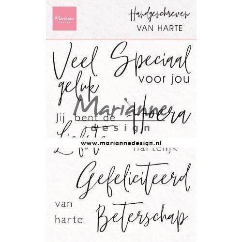 Marianne Design CS1049 - Clear Stamps Handgeschreven - van Harte