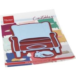LR0688 - Creatable - Armchair & kitten