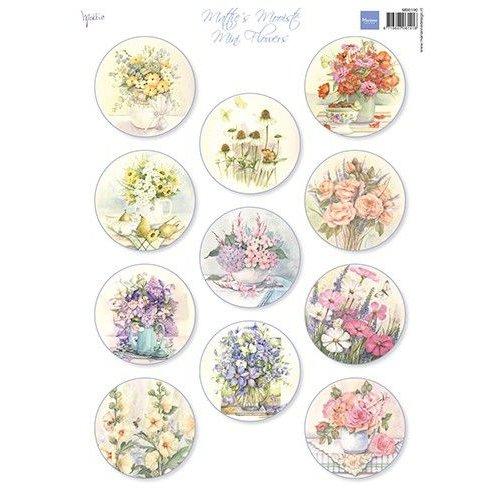 Marianne Design MB0190 - Knipvel A4 Mattie's Mini's – Flowers