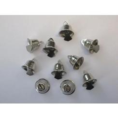 12244-4404 - Klokjes zilver 15 mm 10 ST -4404