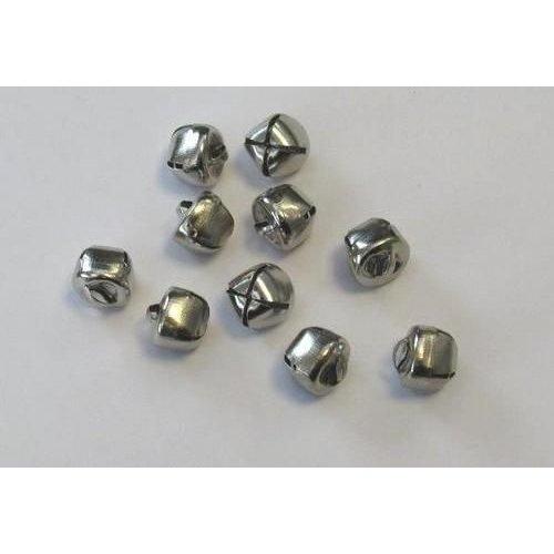 12239-3903 - Christmas bells, 12 mm, Silver, 10pcs