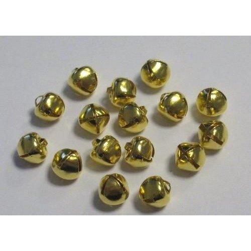 12239-3911 - Christmas bells, 8 mm, Deep Gold, 16pcs