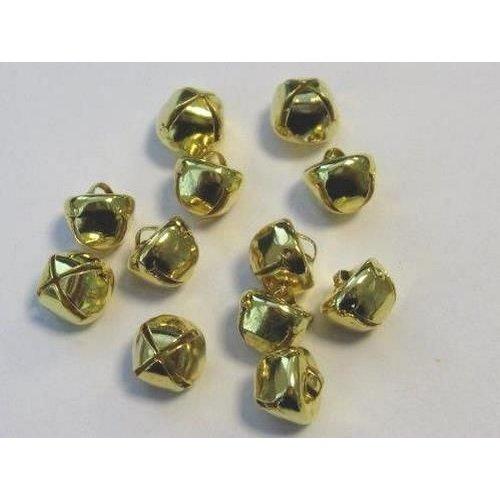 12239-3912 - Christmas bells, 10 mm, Deep Gold, 12pcs