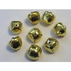 12239-3914 - Christmas bells, 15 mm, Deep Gold, 8pcs