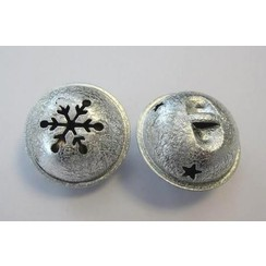 12241-4101 - Christmas bell, 35mm, Satin Silver, 1pce