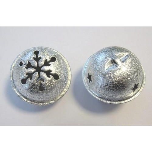 12241-4102 - Christmas bell, 40mm, Satin Silver, 1pce