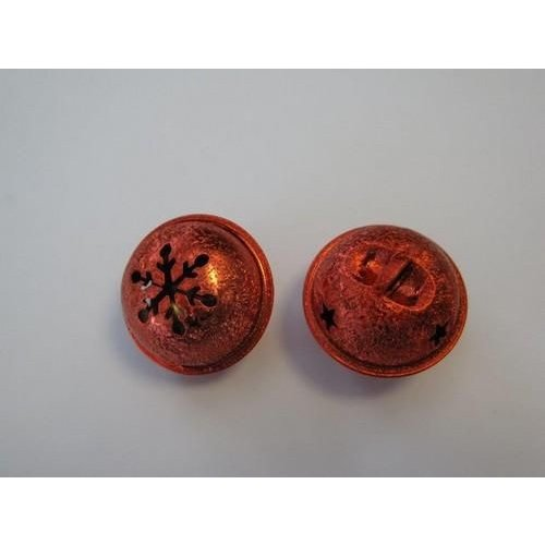 12241-4103 - Christmas bell, 35mm, Satin Red, 1pce