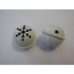 12241-4108 - Kerst bel wit 40 mm 1 ST