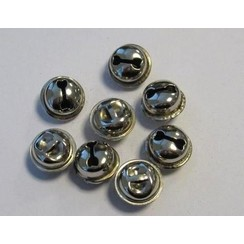 12243-4303 - Kattebelletjes zilver 15 mm 8 ST