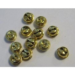 12243-4312 - Kattebelletjes goudkleur 13 mm 12 ST