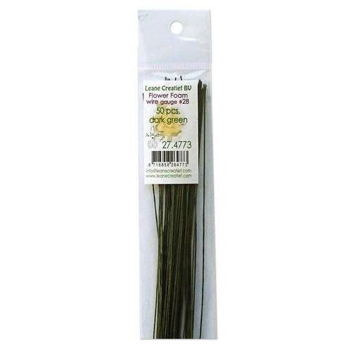 27.4773 - Flower Foam paper wrapped wire #28  50x 36cm. dark green