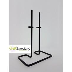 - atie standaard metaal rechthoek dubbele pen voor o.a. Styropor black 12x18cm - 26cm