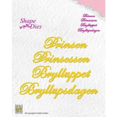 Nellie Snellen SD057 - Nellies Choice Danish texts Die - Prinsen-Prinsessen-Bryllupp