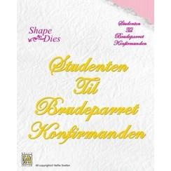 SD059 - Nellies Choice Danish texts Die - Studenten-Til- Brudeparret-