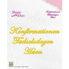 SD061 - Nellies Choice Danish texts Die - Konfirmationen-Fødselsdagen