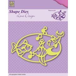 SDL002 - Nellie's Choice Shape Die Lene Design - Waterworld 2